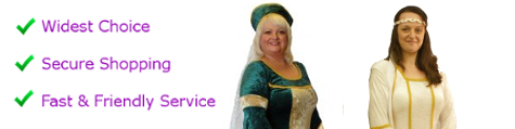 Plus size Medieval lady costumes