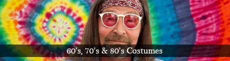 Plus size and XL 60's 70's hippie fancy dress costumes