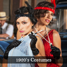 Plus size and XL 1920's flapper fancy dress costumes