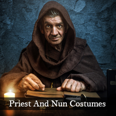 Plus size priest and nun XL religious fancy dress costumes