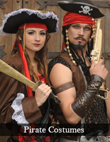 Plus size and XL pirate fancy dress costumes
