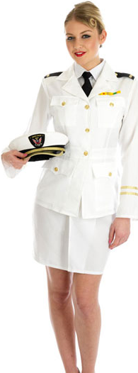 1940's Lady Naval Officer Costume