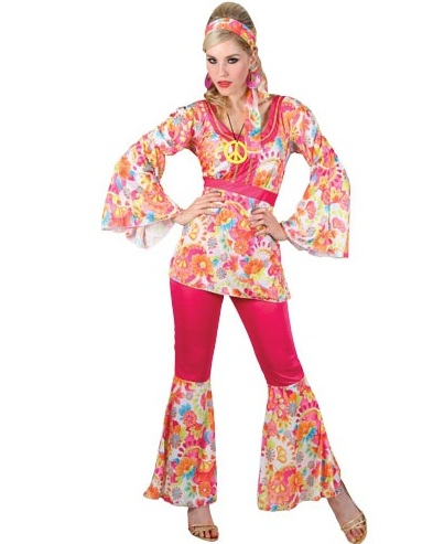 70 s Hippie Honey Costume EF2112 | Plus size fancy dress costumes ...