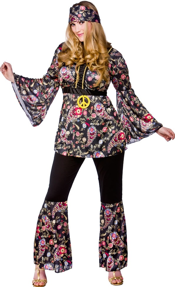 70 s Peace Lovin Hippy Costume| Plus size fancy dress costumes ...
