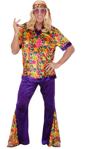 Plus size Hippie Dude velvet costume|plus size fancy dress| XL ...
