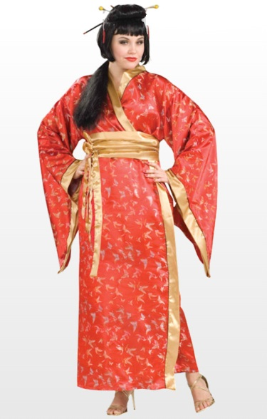 sc 1 st  Ladies plus size fancy dress costumes & Japanese Geisha Plus Size Costume (69855)