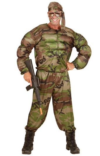 Army Soldier Muscle Costume (00514)  sc 1 st  Ladies plus size fancy dress costumes : army fancy dress costumes  - Germanpascual.Com