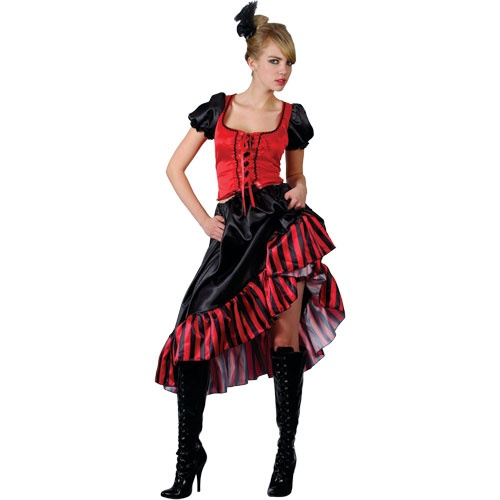 Can Can Saloon Girl Costume (EF2078) .  sc 1 th 225 & Plus Size Wild West Costumes|plus size fancy dress|Ladies and menu0027s ...