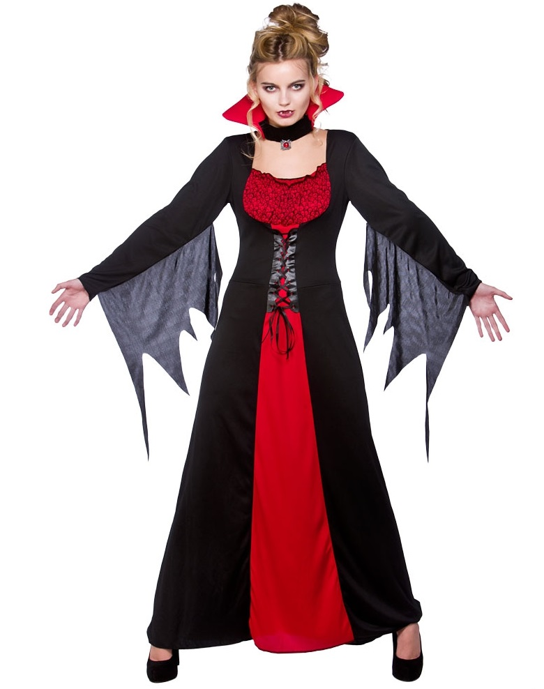 Classic V&iress Costume (HF5047)  sc 1 st  Ladies plus size fancy dress costumes & Plus size Vampiress costume| Plus size fancy dress costumes | Plus ...