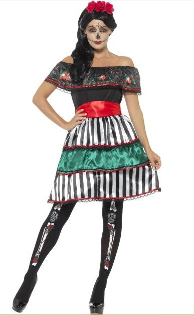 23c64938e77 Day of the Dead Senorita Doll Plus Size Costume