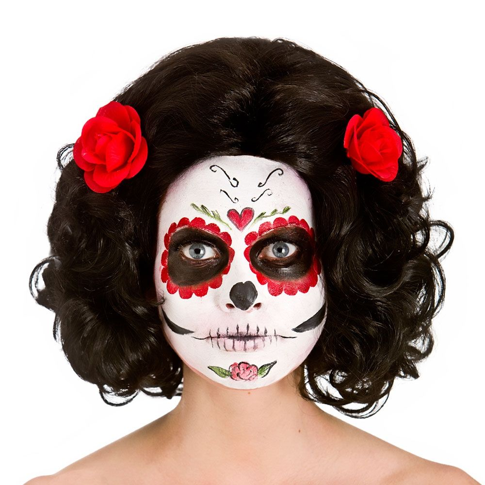 Day Of The Dead Senorita Wig Hw8273 Halloween Wig