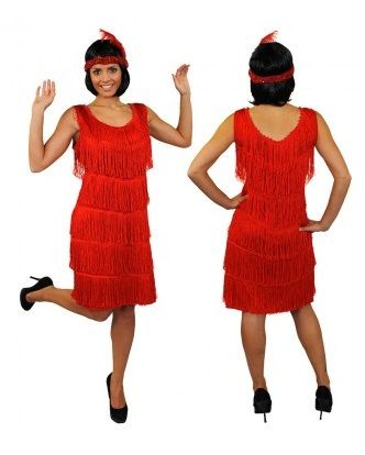 62d4828c1ee Deluxe 20 s Flapper Costume Red ILFD4576