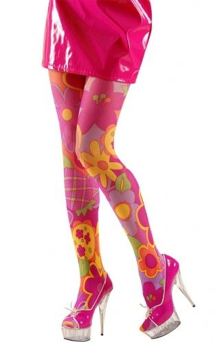 Flower Power Tights Plus Size Plus Size 60 S Tights
