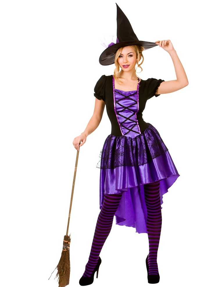 Halloween Witch Costume | Glamorous Witch Plus Size Costume Hf5104