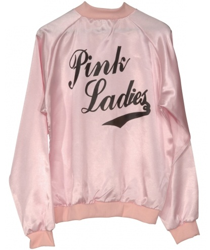 Grease Pink Lady Ladies Jacket- XL pink lady , plus size pink ...