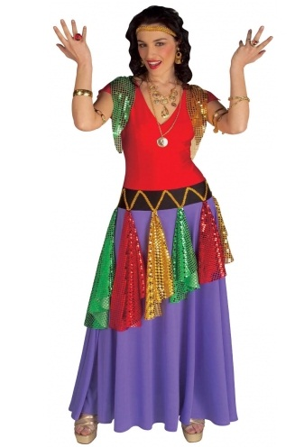 Gypsy Queen Plus Size Fancy Dress Costume 3156