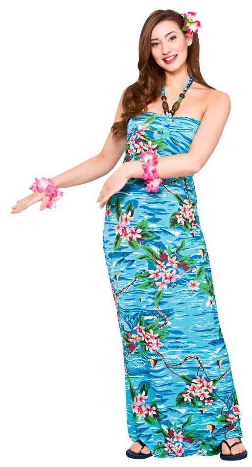 Hawaiian Plus Size Maxi Dress Orchid Ocean (HAW1306)