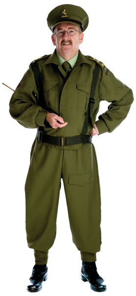 plus size Dad's Army Home Guard costume