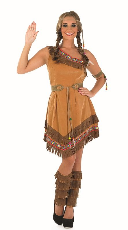 Indian Squaw Costume (2715)  sc 1 th 302 & Indian Squaw Costume 2715  Plus size ladies Indian fancy dress costume