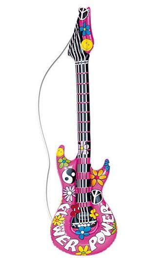 Inflatable Hippie Guitar 23944 60 S Accessories