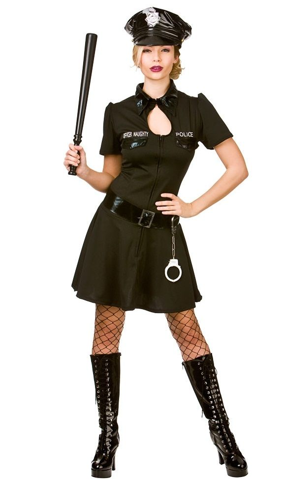 Naughty Officer Plus Size Police Fancy Dress Costume