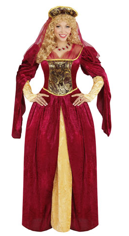4f14fdfb0d1 Medieval Royal Queen Plus Size Costume (05594)