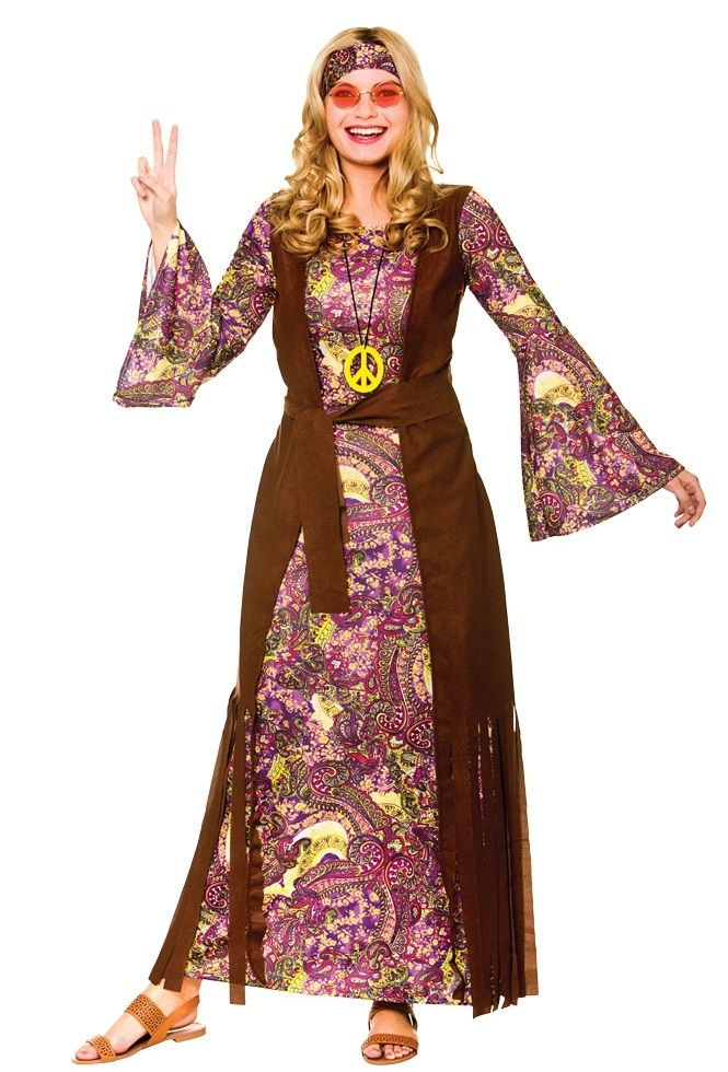 Summer of Love Hippie Costume EF2240 | Plus size fancy dress ...