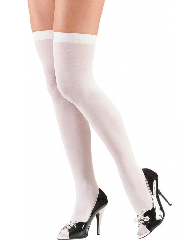 5ca4602dd0e Home   Christmas Costumes   Xmas Accessories · White Thigh Highs - Plus Size  .