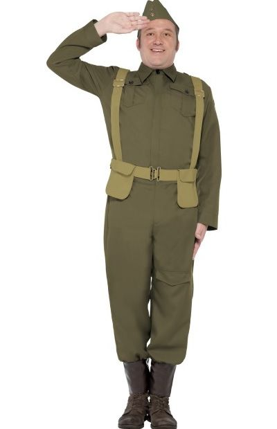 Plus Size Dad S Army Home Guard Costume Plus Size Soldier