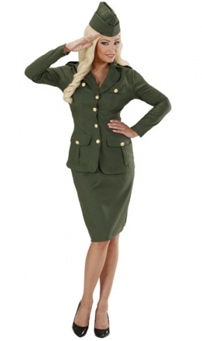 WW2 Soldier Girl Plus Size Costume (7660)