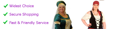 Ladies plus size fancy dress up to size 40