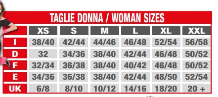 Widmann ladies size chart